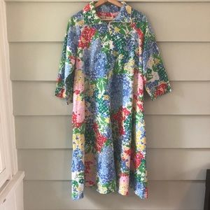 Vtg David Brown California House Dress Muu Muu
